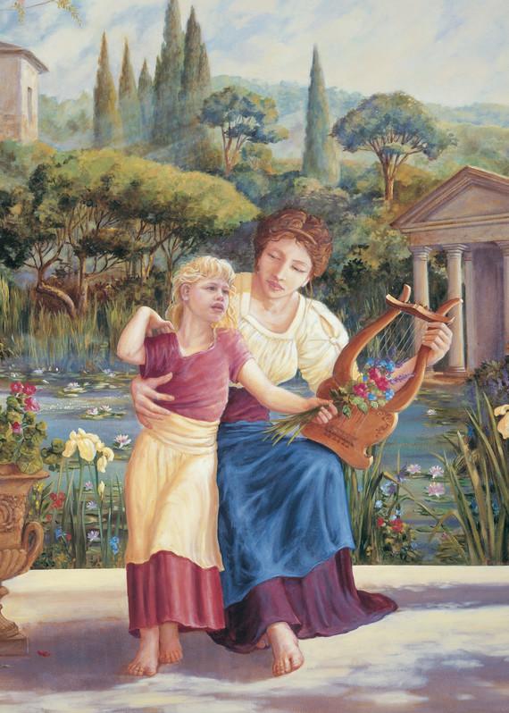 Music Lesson   Murals in Classical Style   Gordon Meggison IV
