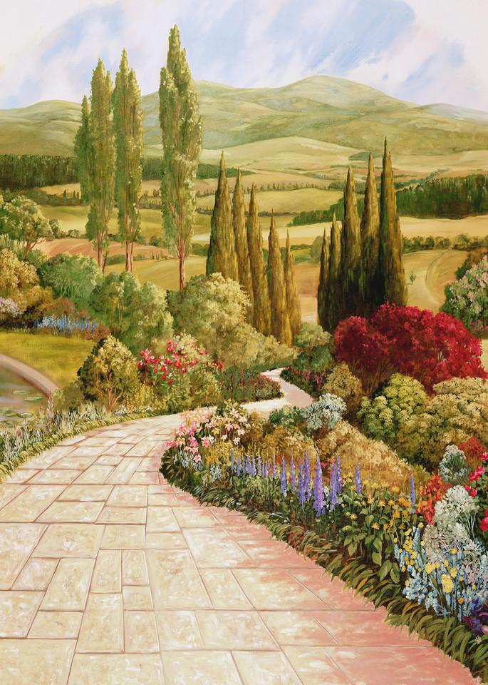 English Garden 2 | Murals in Classical Style | Gordon Meggison IV