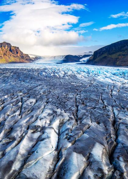 Skaftafell Glacier Aerial Print