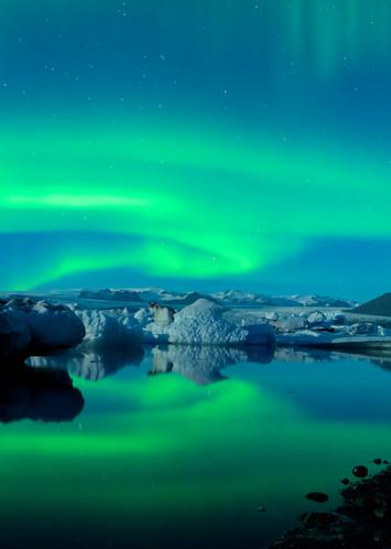 Dancing Auroras Iceland Print