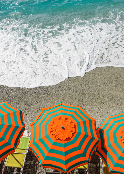 Monterosso Umbrellas, Cinque Terre Italy art print