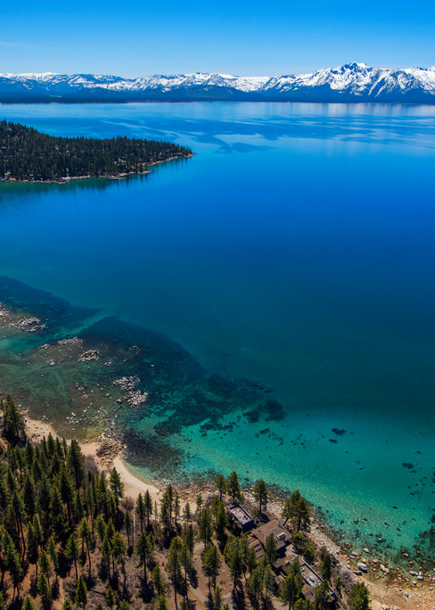 Zephyr Cove from Above Fine Art Photo print