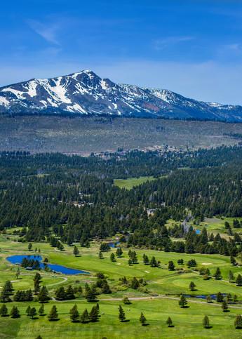 Lake Tahoe Golf Course Aerial Panorama