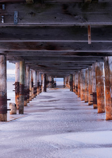 Eye of the Storm Lake Tahoe Pier Print