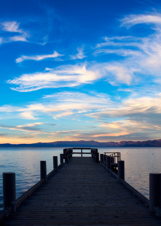 Valhalla Pier Cloudscape Lake Tahoe Print by Brad Scott