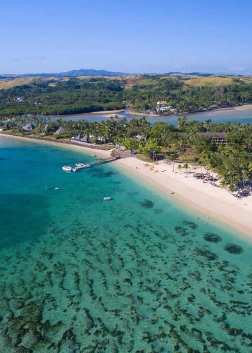 Shangri La Fiji Aerial Photo Print