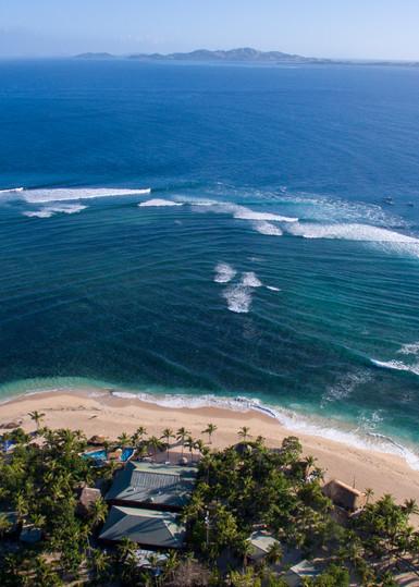Tavarua & Restaurants Aerial Photography Print