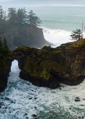 Mysterious Coastlines, Natural Bridges Oregon Print