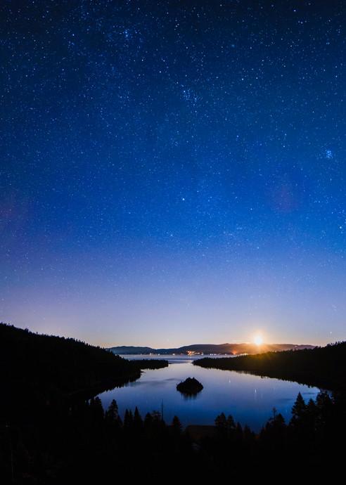 Emerald Bay Moonrise, Lake Tahoe print by Brad Scott