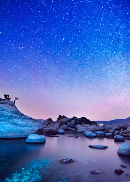 Night Shine, Night Photography of Bonsai Rock Lake Tahoe