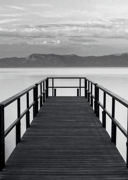 Pure State of Mind, Lake Tahoe Pier Print by Brad Scott
