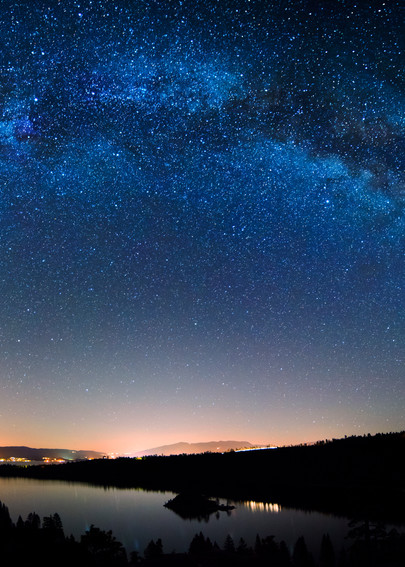 Milkyways Above Emerald Bay, Lake Tahoe Fine Art Print
