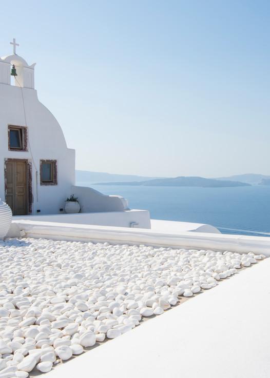 Everything Is White, Oia, Santorini Greece Fine Art Photo by Brad Scott