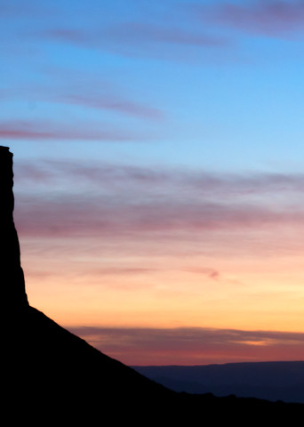 Monument Valley Mesa Silhouette Fine Art Photography Print