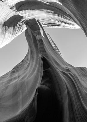 Eagles Nest Black and White, Arizona Slot Canyons Fine Art Print