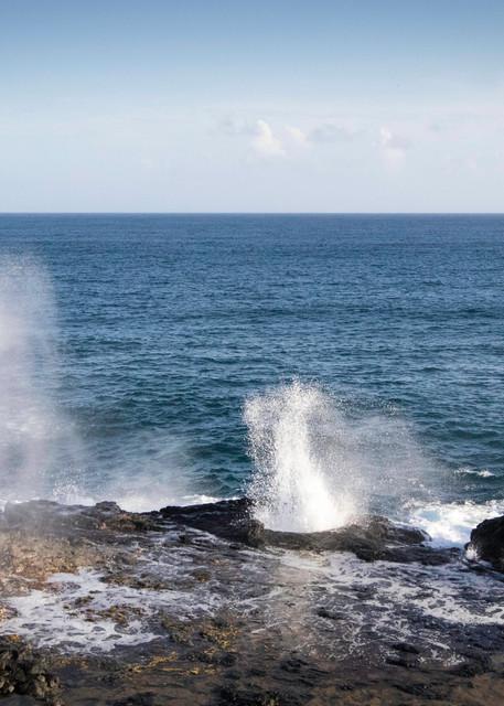 Spouting Horn, waves, Kauai