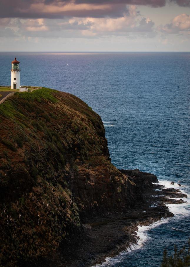 Kilauea Lighthouse, lighthouse, cliff, Kauai
