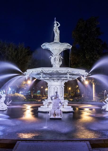 Forsyth Fountain at Night