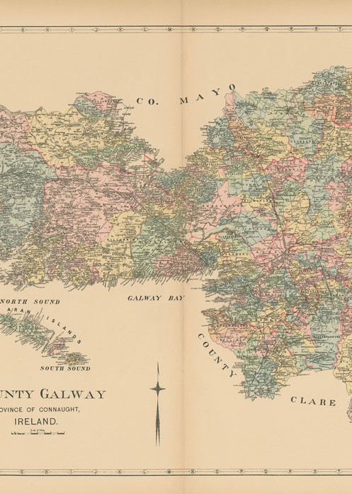 Map Of County Galway Art | Frame Center