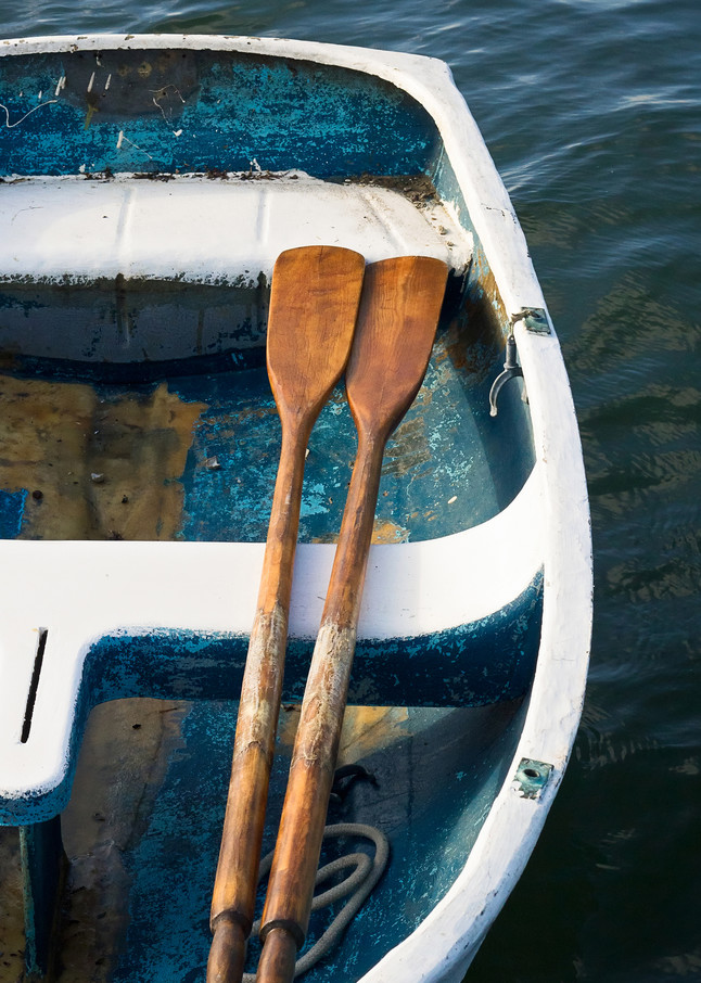 """Room for Two"" fine art, vertical boat photography print by Katherine Gendreau"