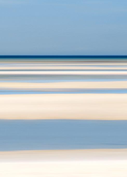 """Tide Lines III"" - Abstract Cape Cod Bay Beach Art Print"