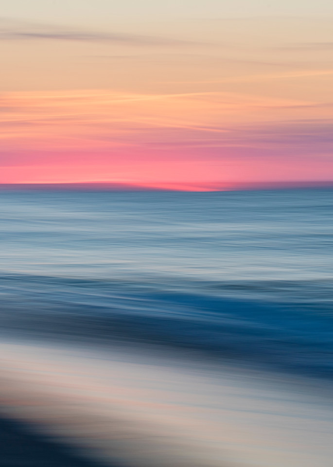 """Race Point Sunset"" - Cape Cod abstract beach wall art"