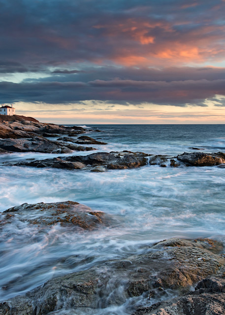 """March Light"" - Large Rhode Island lighthouse photograph"
