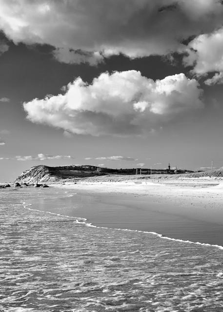 """Toward Moshup"" Black and white Martha's Vineyard beach photograph"