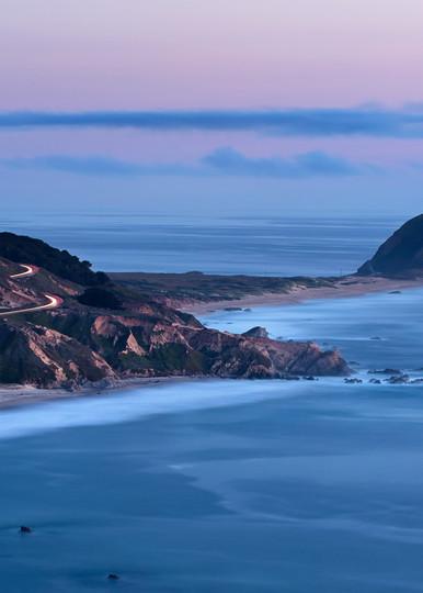 """""""Point Sur Dusk"""" Big Sur California lighthouse seascape art"""