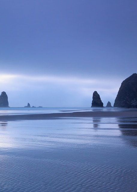 """Cannon Beach in Fog"" Oregon coast seascape photograph"