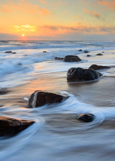 """""""Green Hill Beach Sunset"""" Fine Art Rhode Island Seascape Photograph"""
