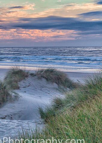 fine art photograph of Sunset on the Beach at Nehalem
