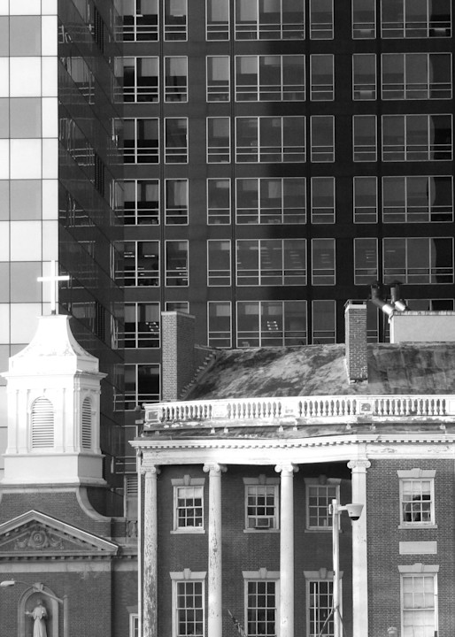 Old And New, Lower Manhattan Photography Art | Photoissimo - Fine Art Photography