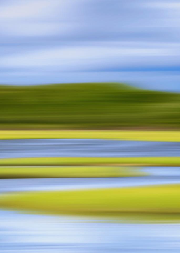 """Zeke's Creek"" Jamestown RI Abstract Coastal Marsh Photograph"