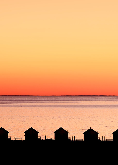 """""""Dusk on the Bay"""" Provincetown, Cape Cod Days Cottages Sunset Photograph"""