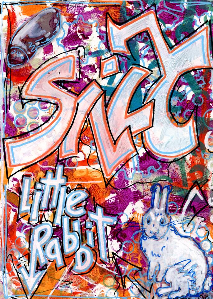 Silly little rabbit graffiti.