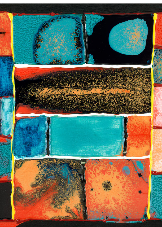 Stained Glass Abstract Art Print Online