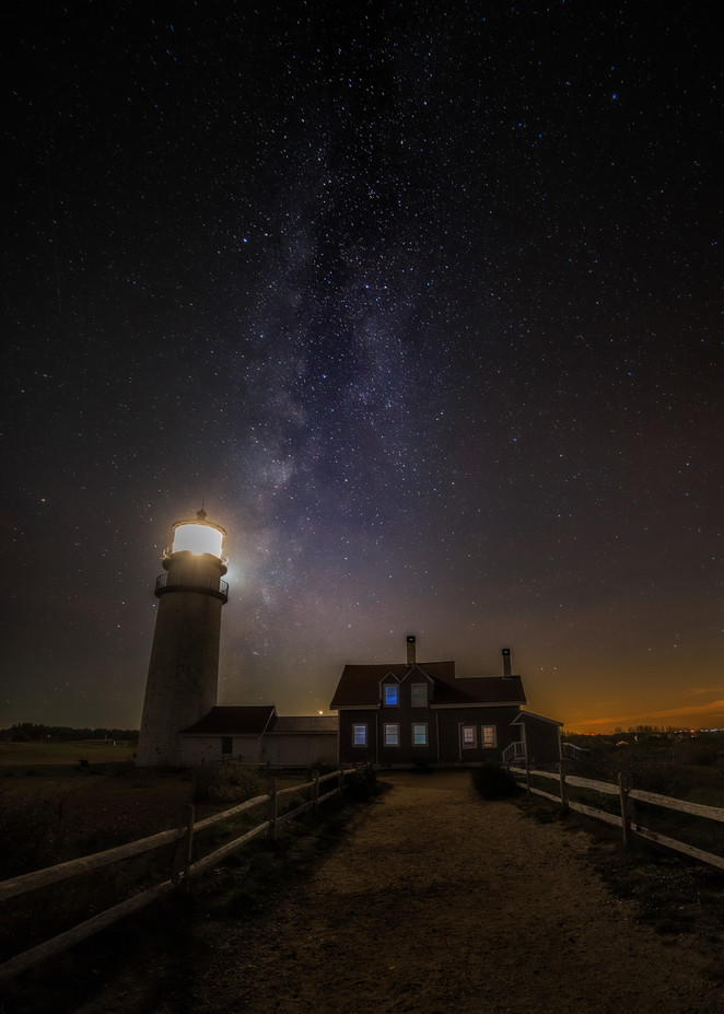 Truro, MA Highland Lighthouse with the Milky Way