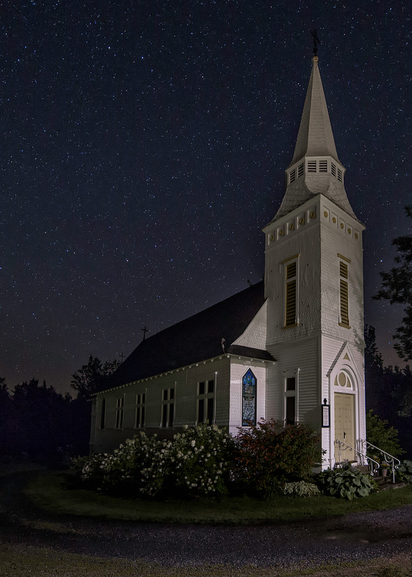 Nightscape of St Matthews Church, Sugar Hill