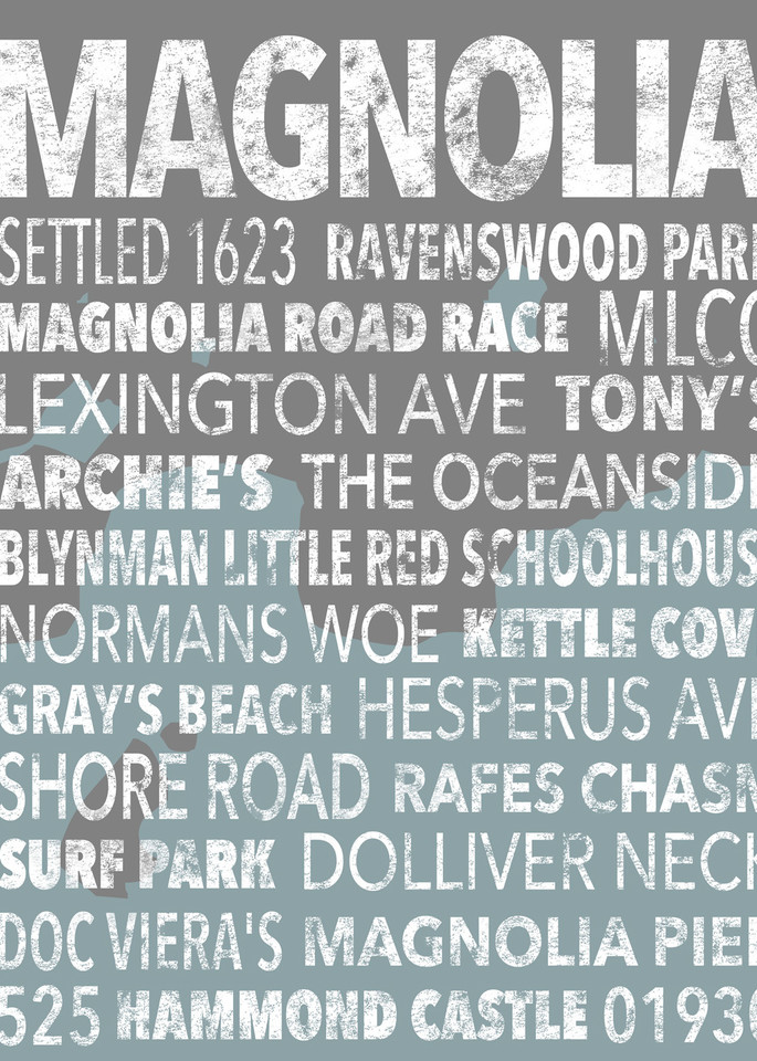 Hometown Graphics Magnolia Beachy Art   capeanngiclee