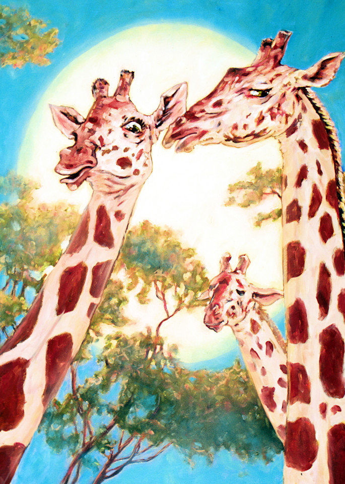 G Is For Gossiping Giraffes Art | Michael Orwick Arts LLC