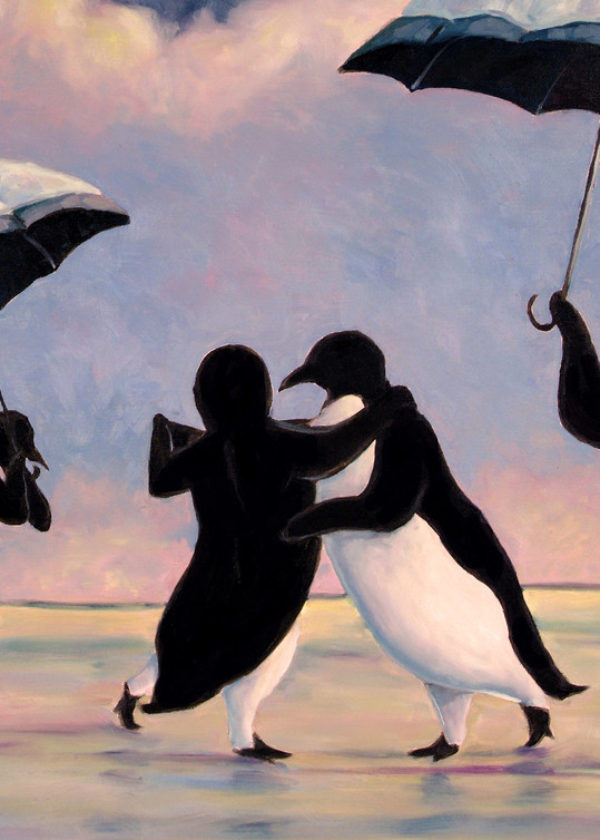 The Vettriano Penguins by Michael Orwick