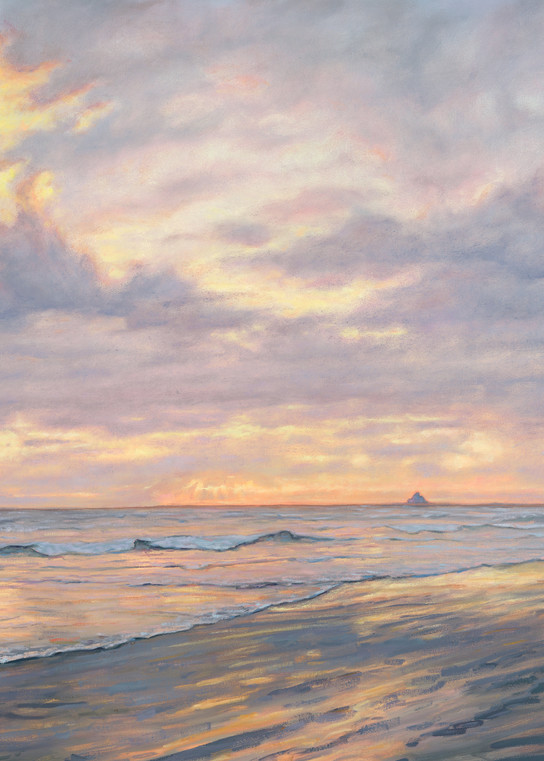 CANNON BEACH CLOUDS, Oils painting by Cannon Beach Artist Michael Orwick, Prints available.