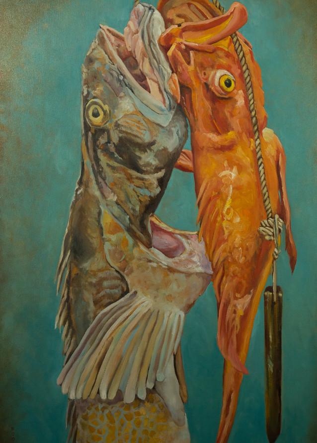 Booker,Tueller,fish,cod fish, rock fish,fair trade, seaside, art, paintings
