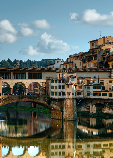 Ponte Vecchio Reflection   Florence, Italy Art | Tony Pagliaro Gallery
