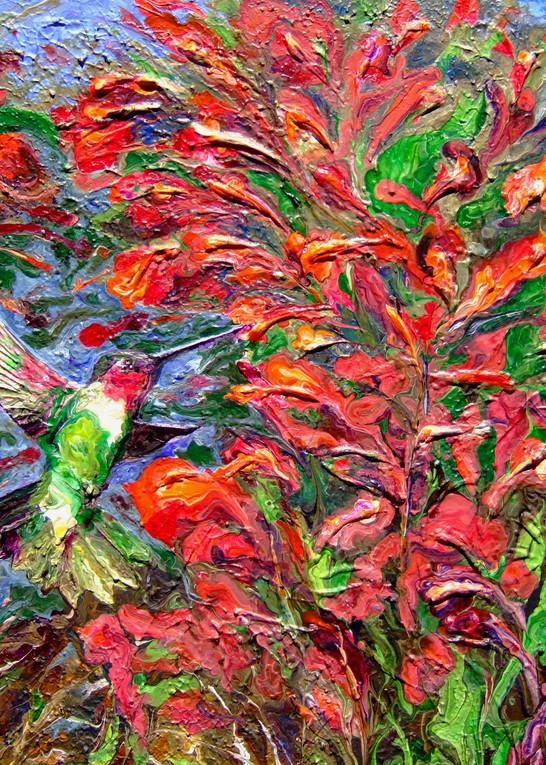 Abstract Hummingbird Art - The Return of Spring #3