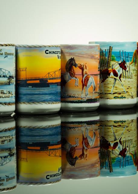 Reflections of Chincoteague Mugs Fine Art Photograph by Michael Pucciarelli