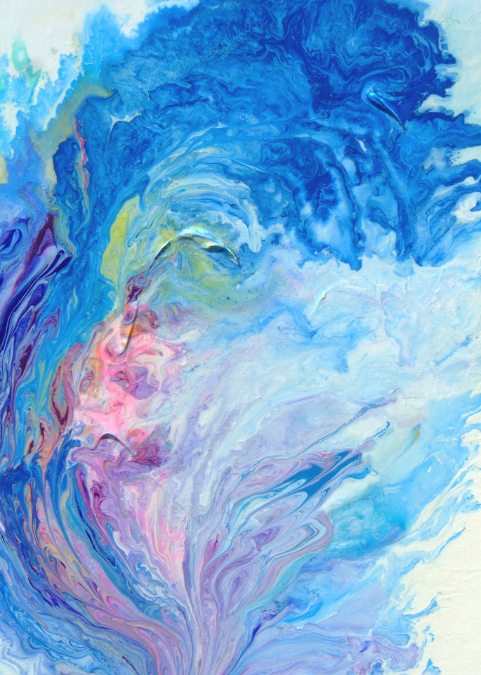 Abstract Blue Wave Painting, Plenteous