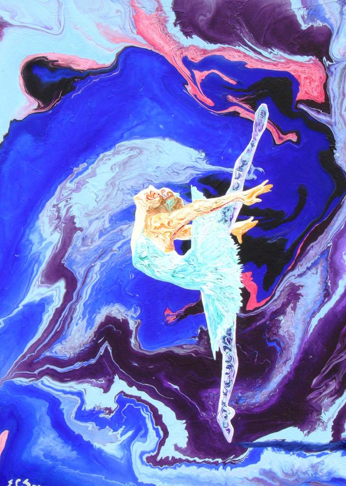 Abstract Ballerina Art, Moonlight Excursion
