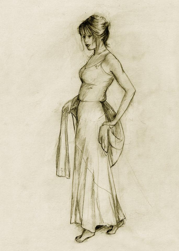 Female, Sepia, Dancer Print